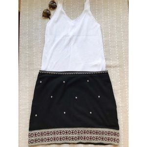 Madewell embroidered mini skirt
